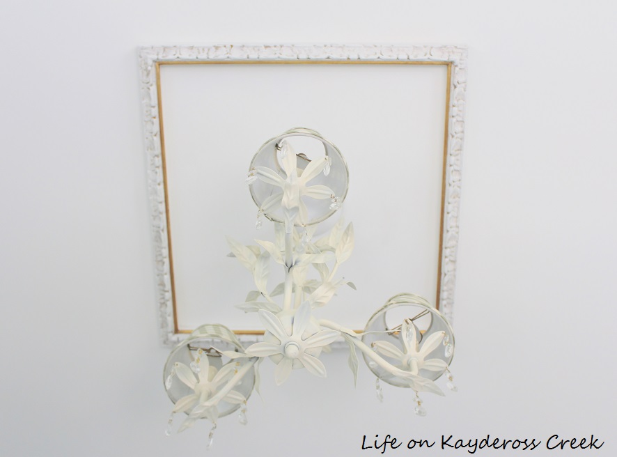 DIY Ceiling Medallion made from an ornate picture frame - Life on Kaydeross Creek