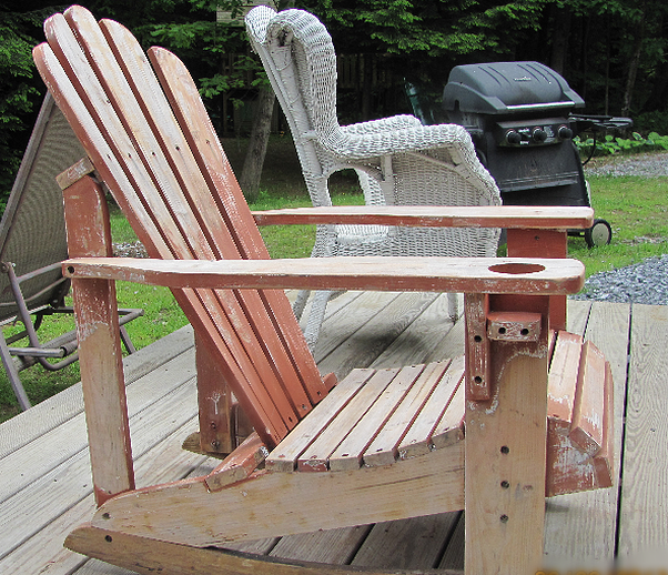 Adirondack Chair Before Side