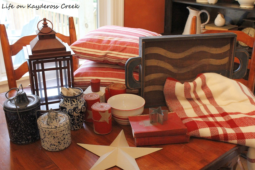 How to Decorate for 4th of July on a Budget - use things you already have around the house - Life on Kaydeross Creek