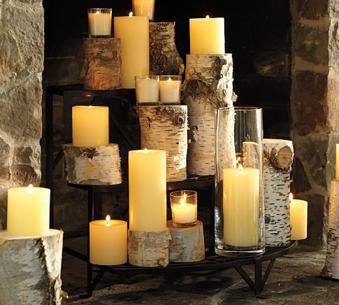 fire place candles