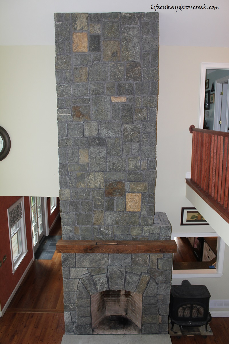 Stone Fireplace – Almost Done!