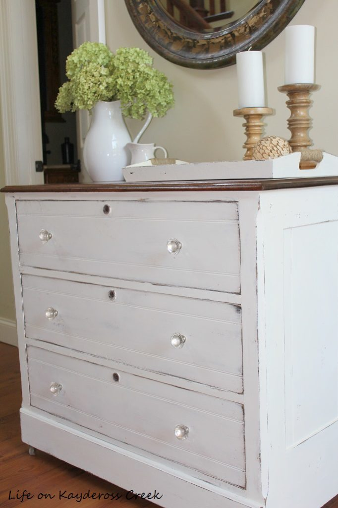 Painted Furniture Dresser Makeover using chalk paint - thrift store upcycle - Life on Kaydeross Creek