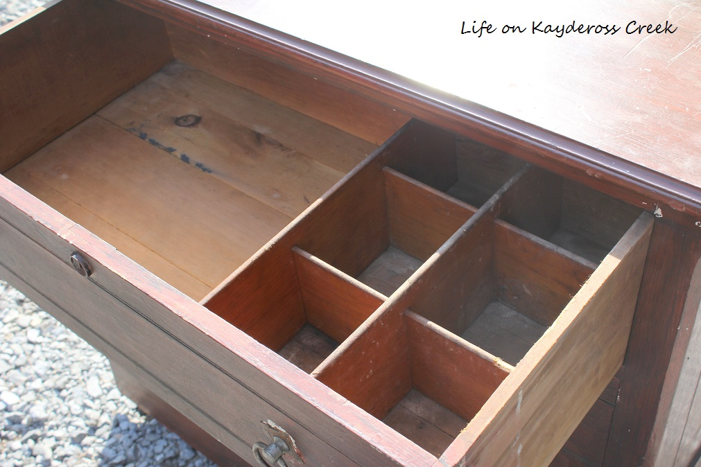 Painted Furniture - Dresser Makeover - Upcycled thrift store find - Life on Kaydeross Creek