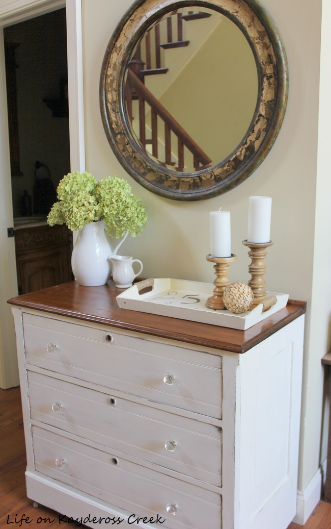 Painted Furniture using chalk paint - thrift store upcycle - Dresser Makeover from Life on Kaydeross Creek