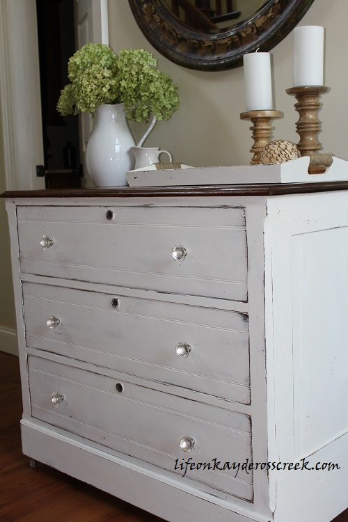 Thrift Store dresser makeover - farmhouse furniture - Life on Kaydeross Creek