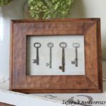 Framed Antique Keys - Make your own art - Life on Kaydeross Creek