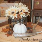 Mercury Glass pumpkin created using looking glass spray. An easy and inexpensive project for fall decor. Life on Kaydeross Creek