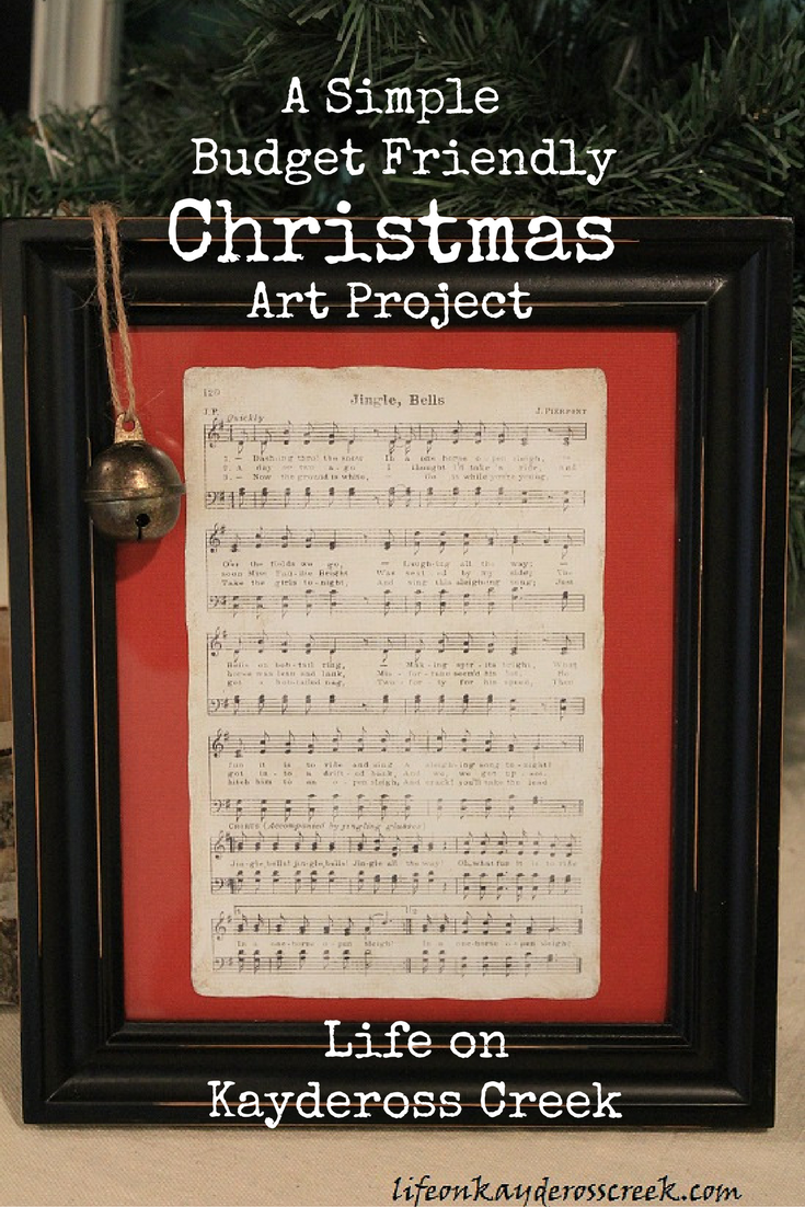 How to Create Cute Budget Friendly Christmas Art. Life on Kaydeross Creek