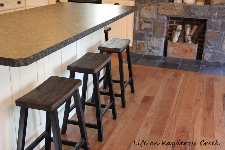 Farmhouse Kitchen Stools Update - Life on Kaydeross Creek