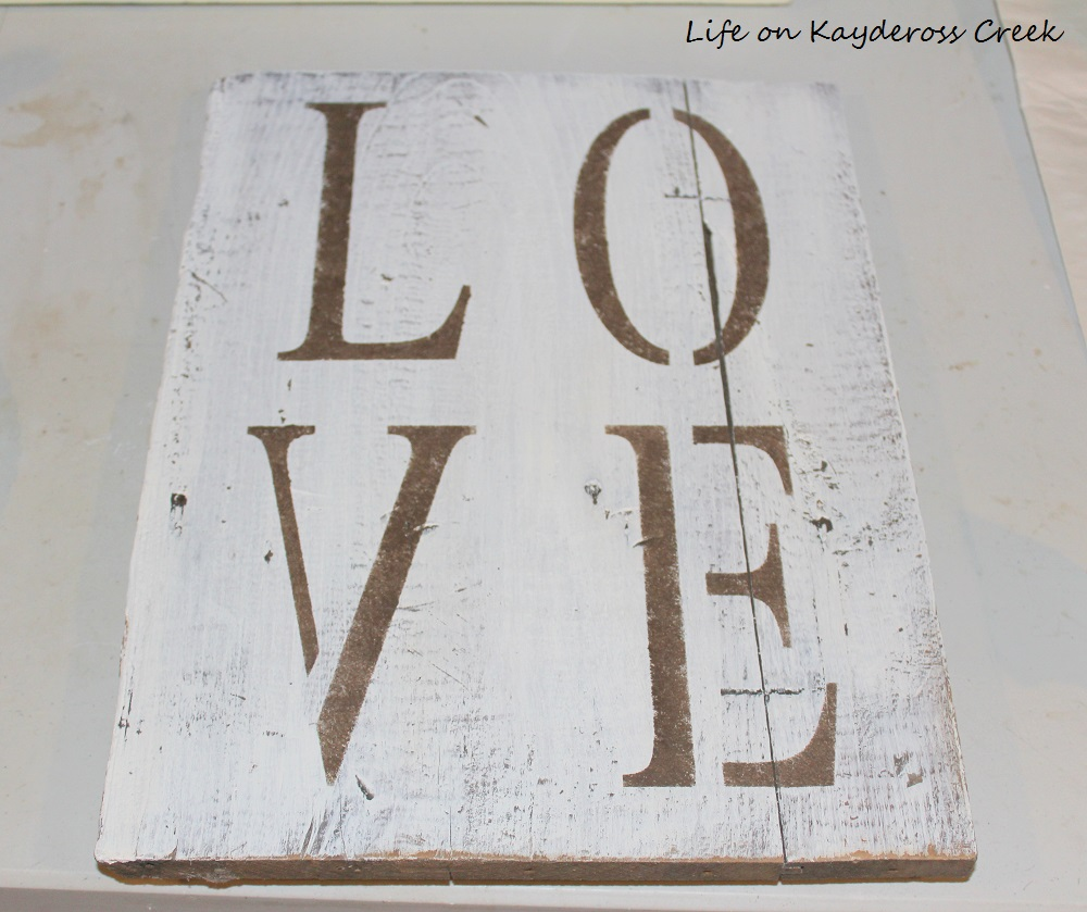 DIY Rustic Wood Sign - Life on Kaydeross Creek - Farmhouse Sign