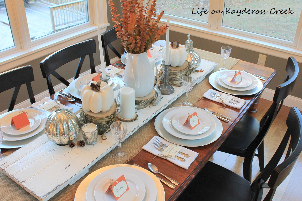 Create a Thanksgiving Tabelscape using natural elements and a few easy and inexpensive projects. Visit Life on Kaydeross Creek