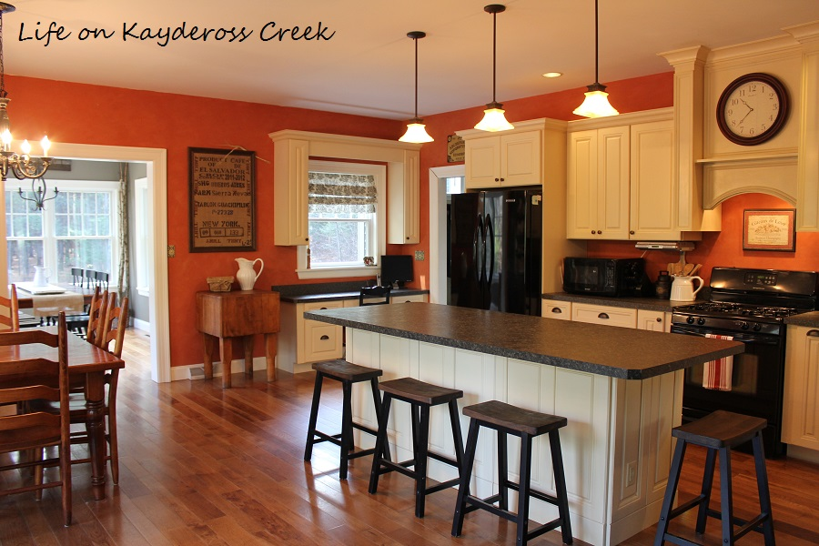 Updated Farmhouse Kitchen Stools - Life on Kaydeross Creek
