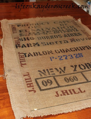 coffee sack measured
