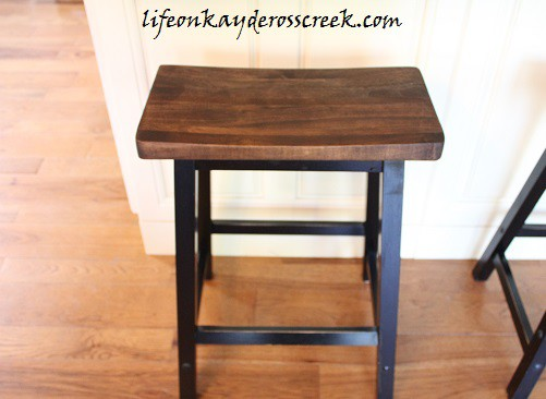 Farmhouse Kitchen Stools Updated