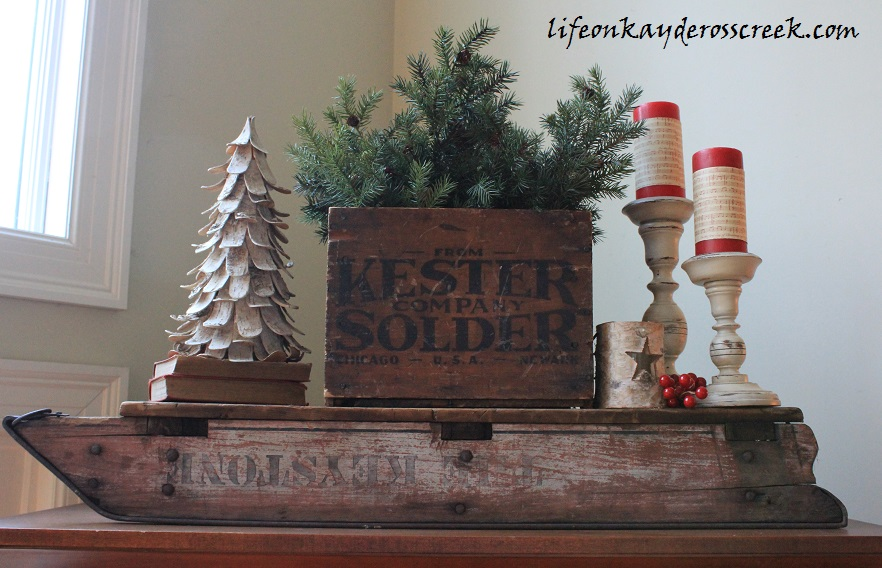 Christmas in the family room - Bringing Christmas Home Tour 2015- Farmhouse Christmas - Life on Kaydeross Creek