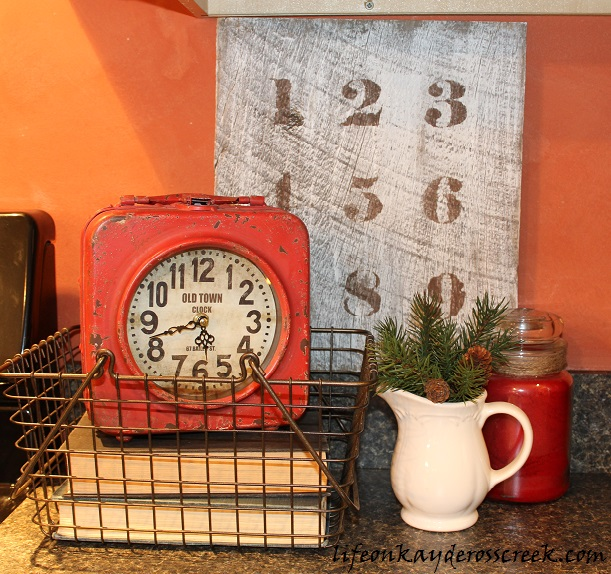 Kitchen counter vignette