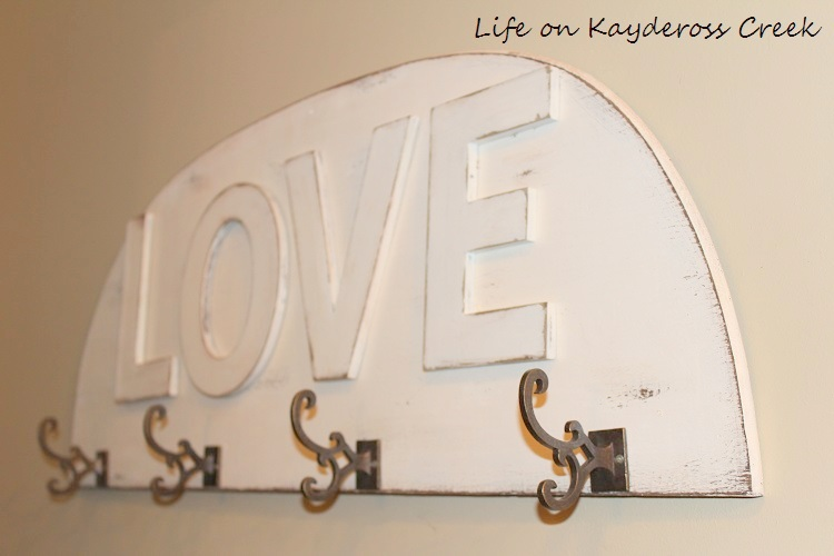 Valentine's Day Project - Love Coat Rack - Life on Kaydeross Creek