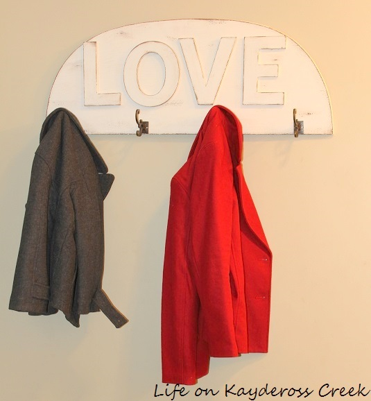 Love Coat Rack - Valentine's Day DIY Project - Life on Kaydeross Creek