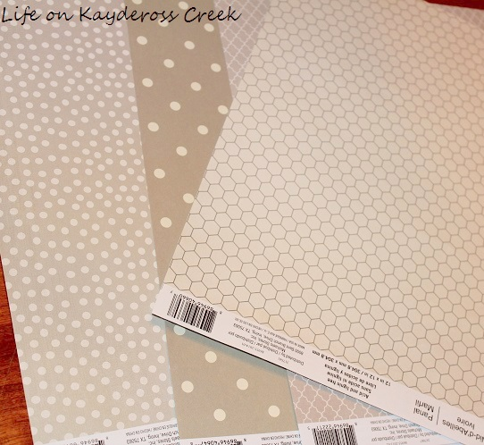 Scrapbook paper used for Valentine's Vignette and DIY Banner - Life on Kaydeross Creek
