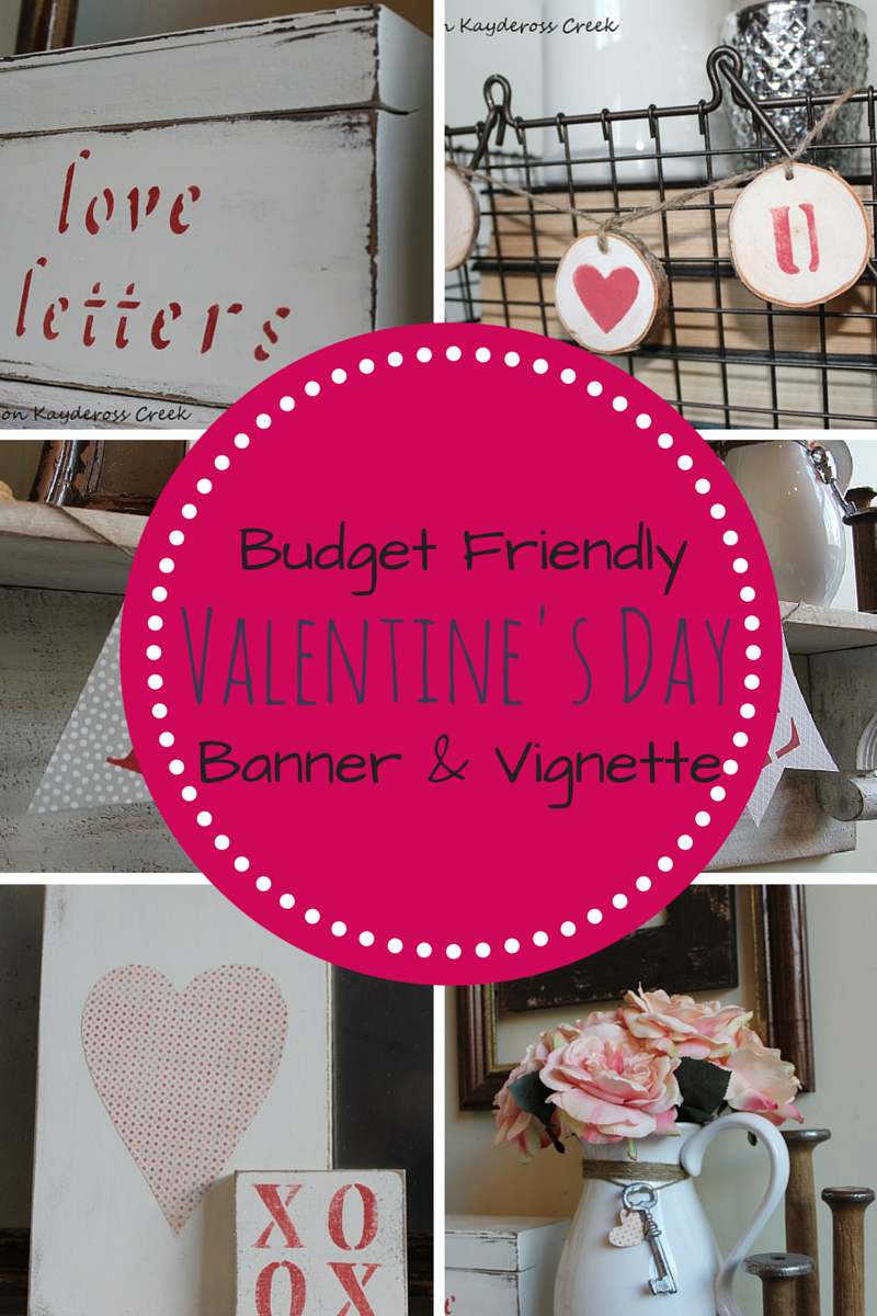 Easy, Budget Friendly Valentine's Day Banner