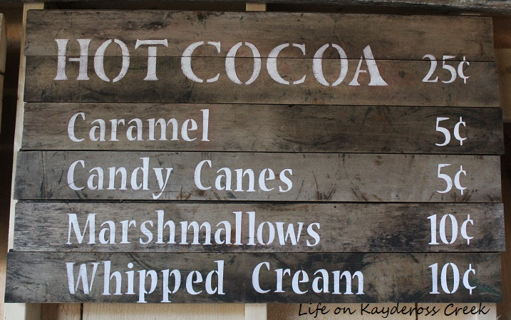 Hot Cocoa Bar Menu