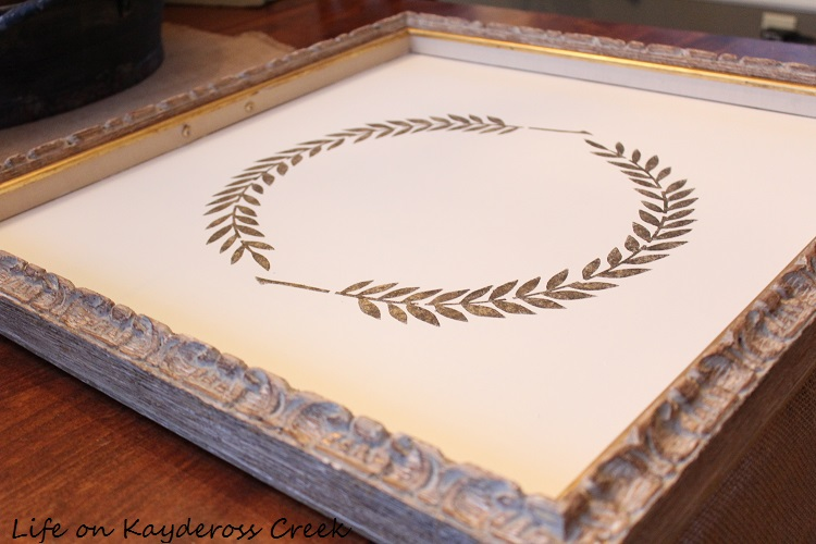 Frame Tray With Stencil
