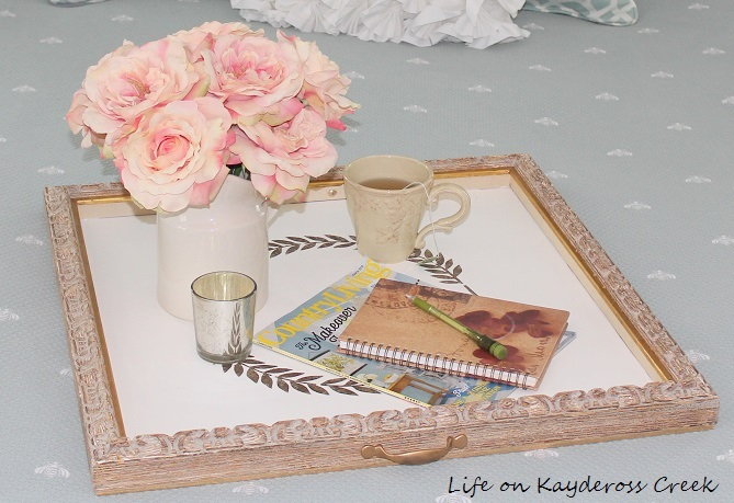 How to use and old frame to make a new tray - great upcycle project - Life on Kaydeross Creek