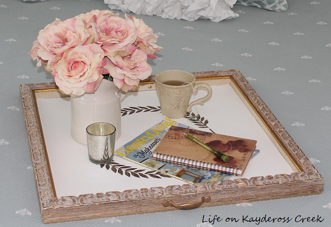 Top 10 Posts - Picture Frame turned into a tray - Life on Kaydeross Creek