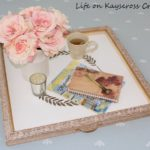 How to create a beautiful new tray from a thrift store old frame - great upcycle project - Life on Kaydeross Creek