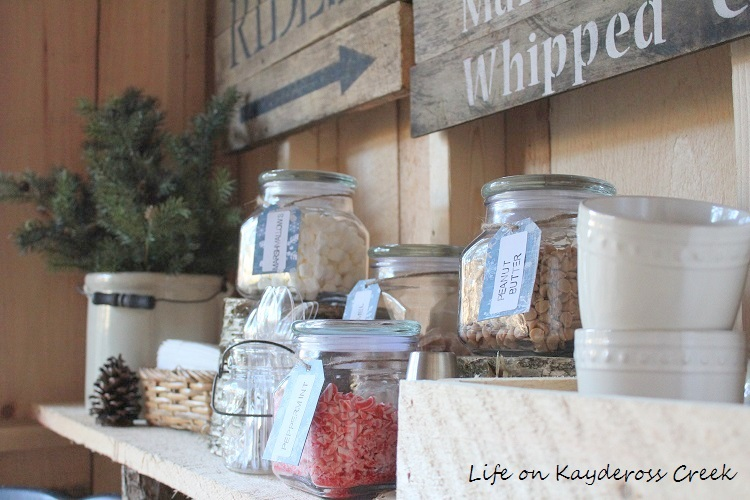 The ultimate Hot Cocoa Bar fixins - Life on Kaydeross Creek