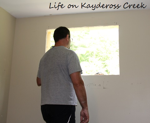 Adding much needed light to the mudroom with a new window - Life on Kaydeross Creek