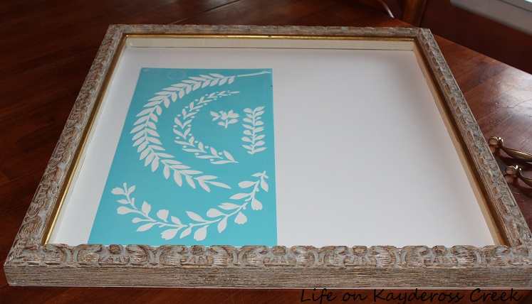 frame tray before stencil