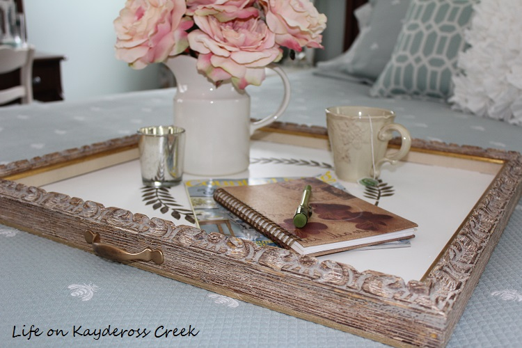A tray made from a picture frame - Life on Kaydeross Creek