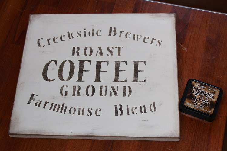 Coffe Sign Distressed