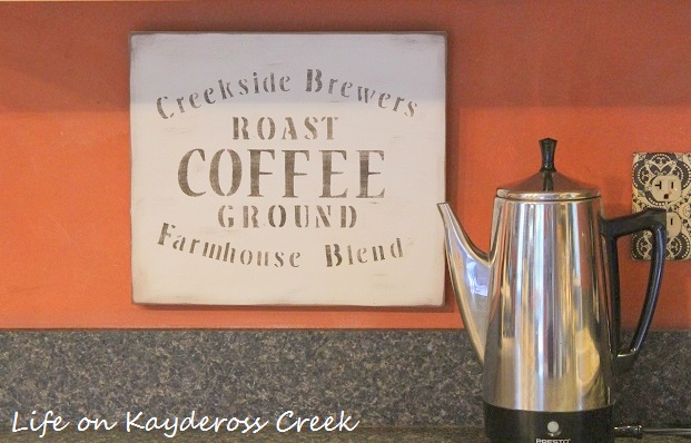 DIY Farmhouse Sign - Coffee Sign - Life on Kaydeross Creek
