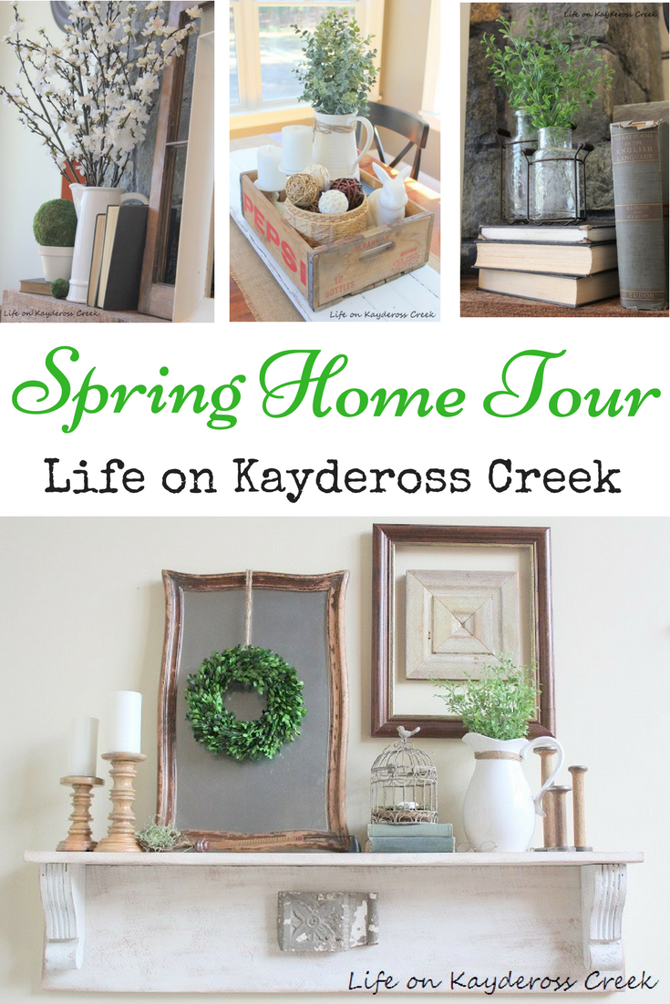 Green and White and Spring all over - Spring Home Tour - Life on Kaydeross Creek