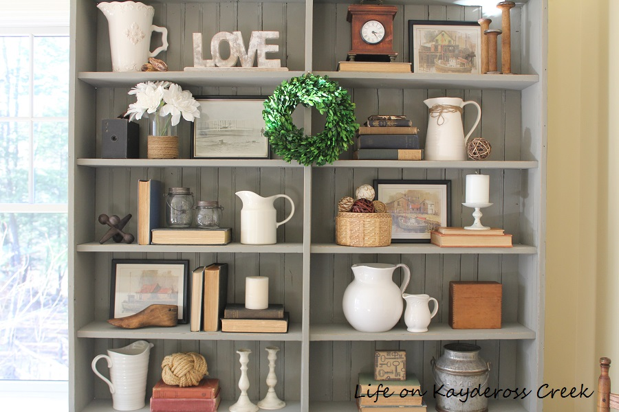 Painted furniture - styled with vintage finds - Life on Kaydeross Creek