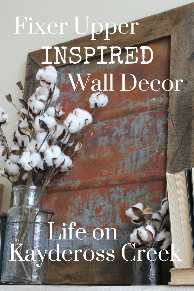 Fixer Upper Inspired Metal Wall Decor. Unique Wall Decor from Life on Kaydeross Creek