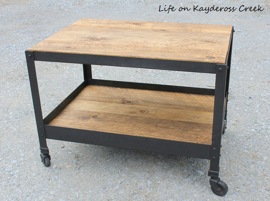 Industrial end table - Life on Kaydeross Creek