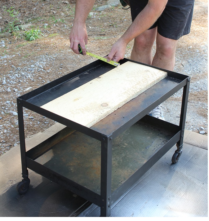 Industrial Style End Table - Life on Kaydeross Creek