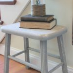 Farmhouse Spring Foyer & Updated Milking Stool