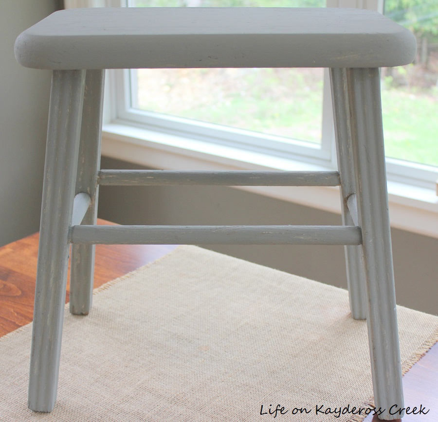 Milking stool with new paint - Life on Kaydeross Creek