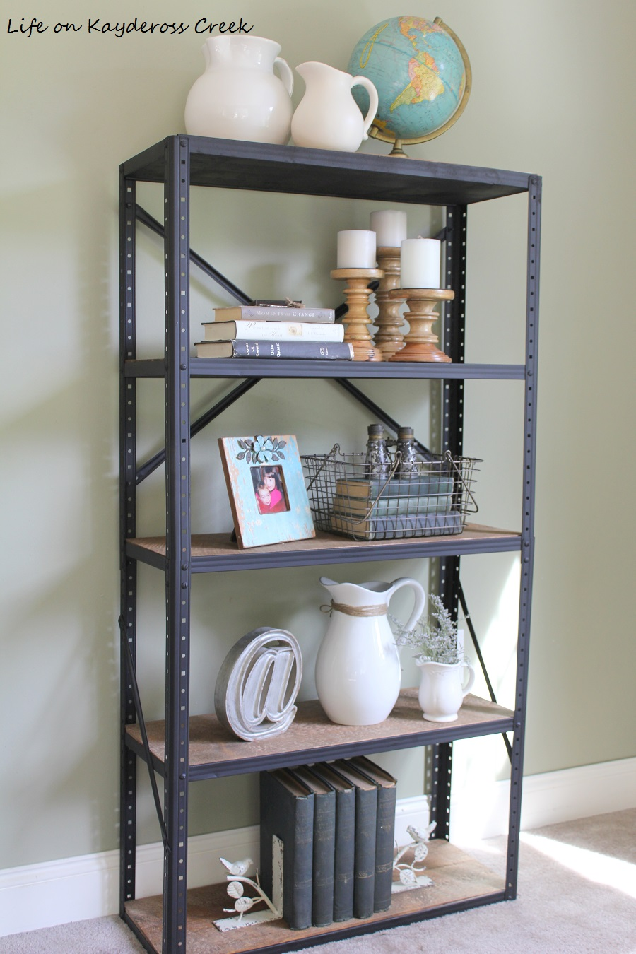 Top 10 Posts - Industrial Style bookshelf - Life on Kaydeross Creek