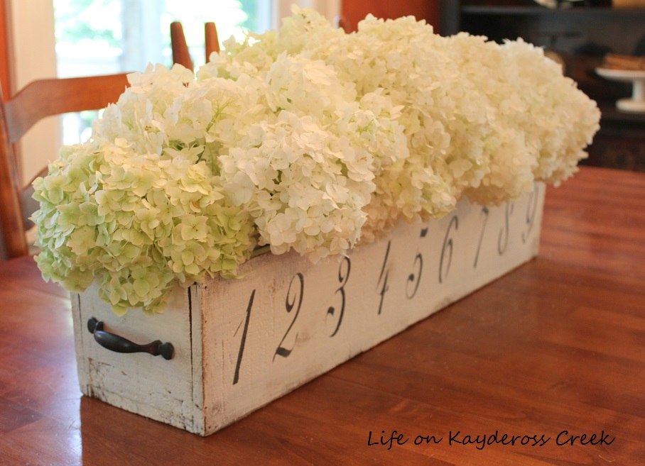 Thrift Store Upcycled Wooden Box into a charming Farmhouse Centerpiece - Life on Kaydeross Creek