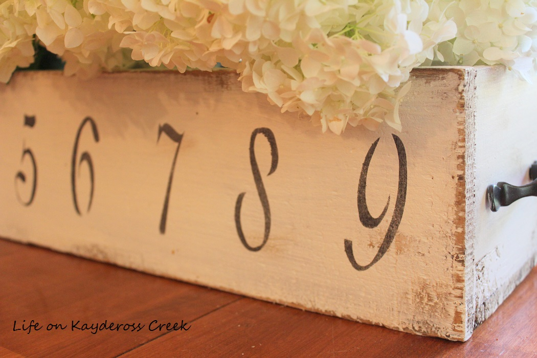 Thrift Store Upcycled Wooden Box transformed into a charming Farmhouse Centerpiece - Life on Kaydeross Creek