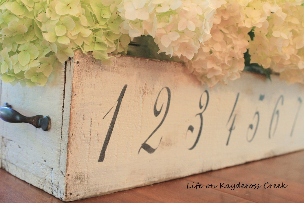 Thrift Store Upcycled Wooden Box - Farmhouse Centerpiece - Life on Kaydeross Creek