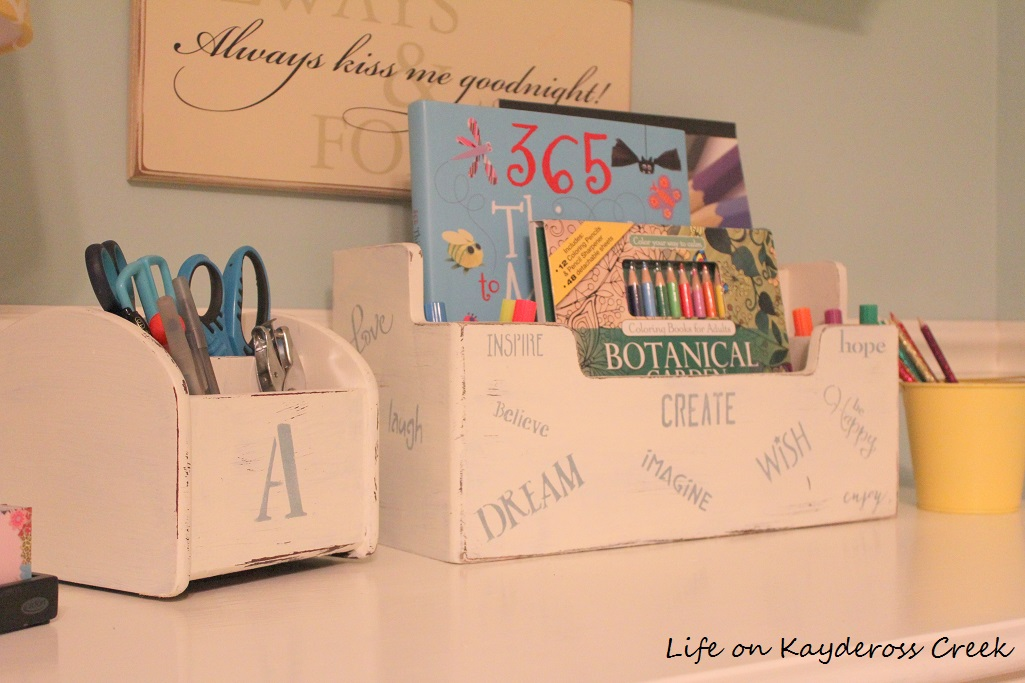 Upcycled Desk Organizer - Life on Kaydeross Creek