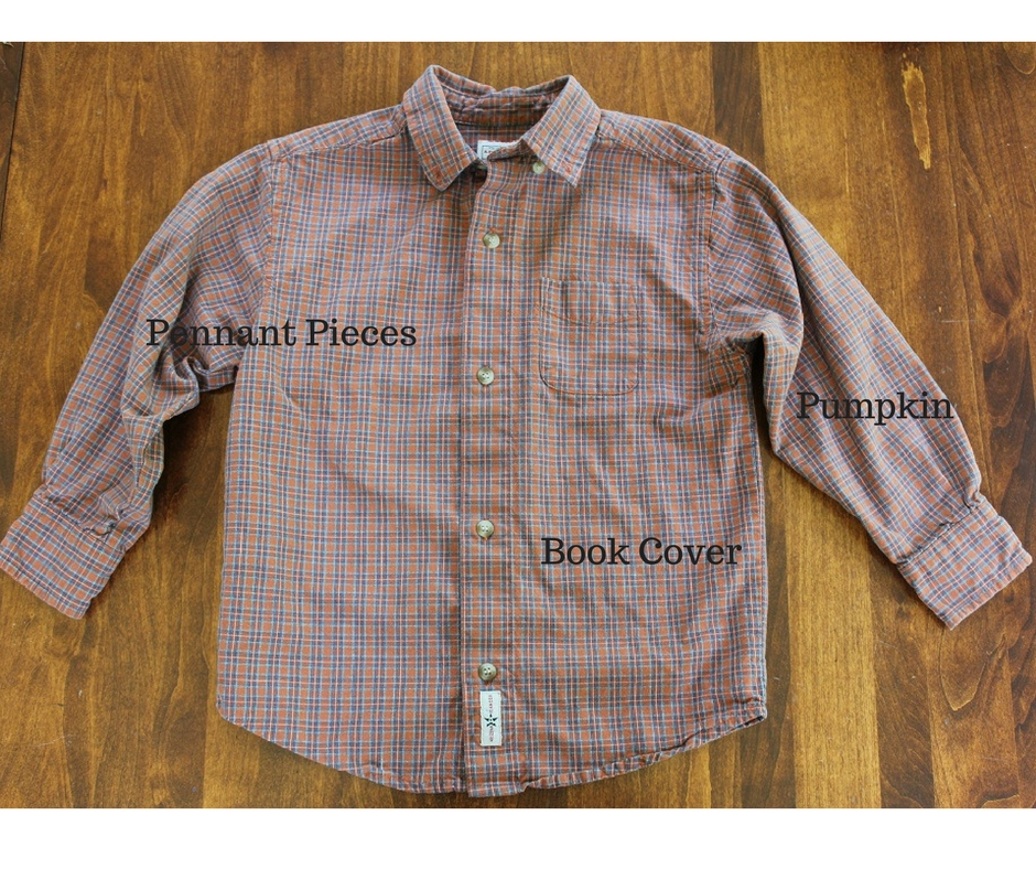Fall DIY Project - Plaid Shirt becomes three budget friendly fall craft projects