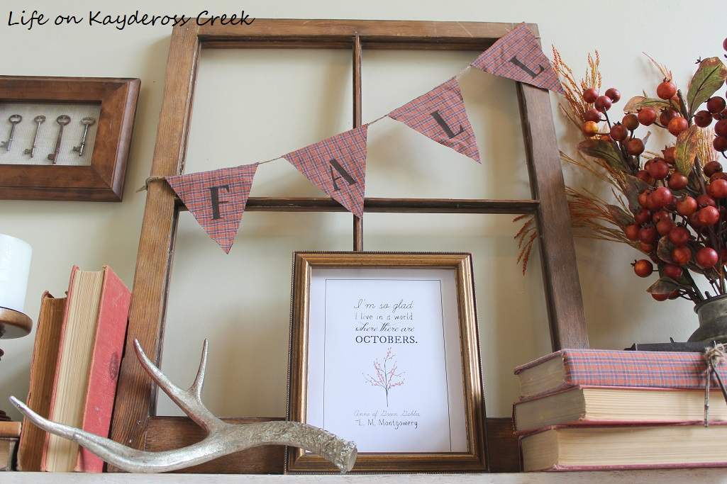 Fall DIY Projects - Create unique and budget friendly fall decor projects with one plaid shirt. The banner is so cute!