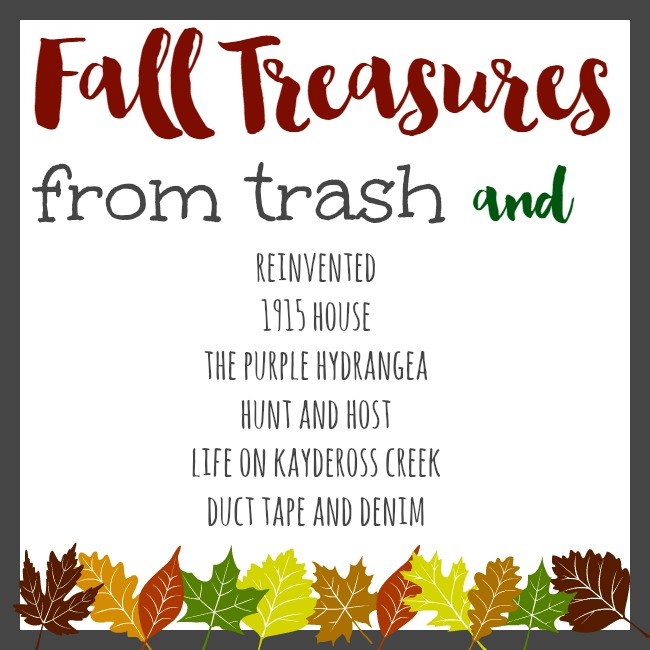 Trash to Treasure Fall Decor Blog Hop